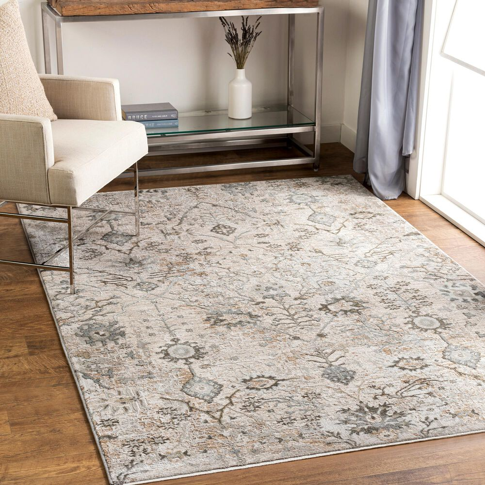 "Surya Brunswick 7'10"" x 10'3"" Ivory, Gray and Green Area Rug, , large"