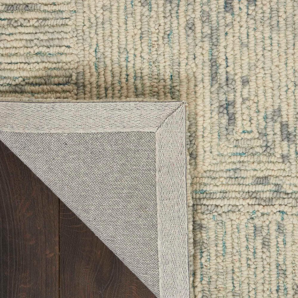 """Nourison Colorado 7'9"""" x 9'9"""" Ivory, Grey and Teal Area Rug, , large"""