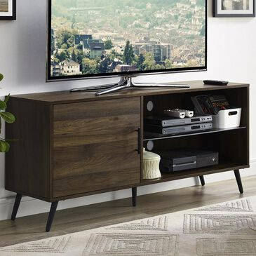 "Walker Edison 52"" TV Stand in Dark Walnut, , large"