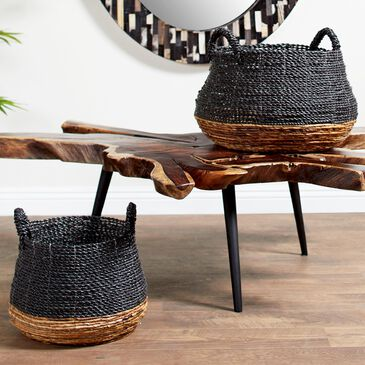 Maple and Jade Baskets in Grey (Set of 2), , large