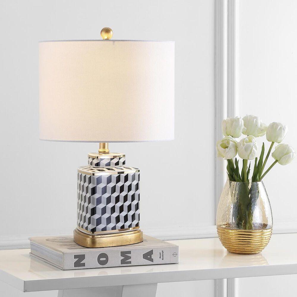 Safavieh Alisha Table Lamp in Black/White, , large