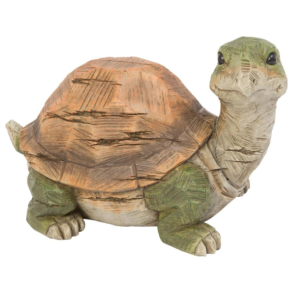 """The Gerson Company 14"""" Turtle Figurine in Green and Brown, , large"""