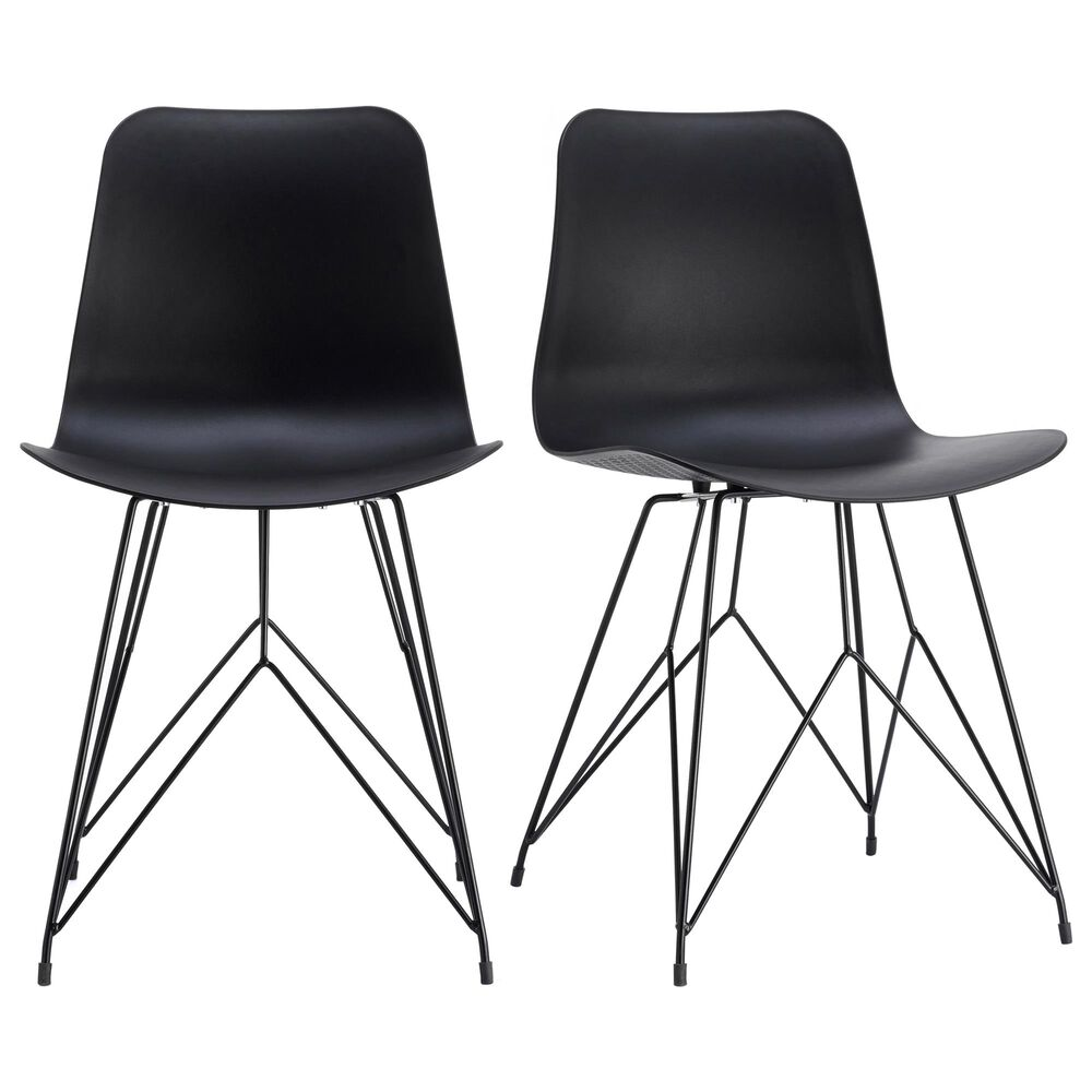 Moe's Home Collection Esterno Patio Chair in Black (Set of 2), , large