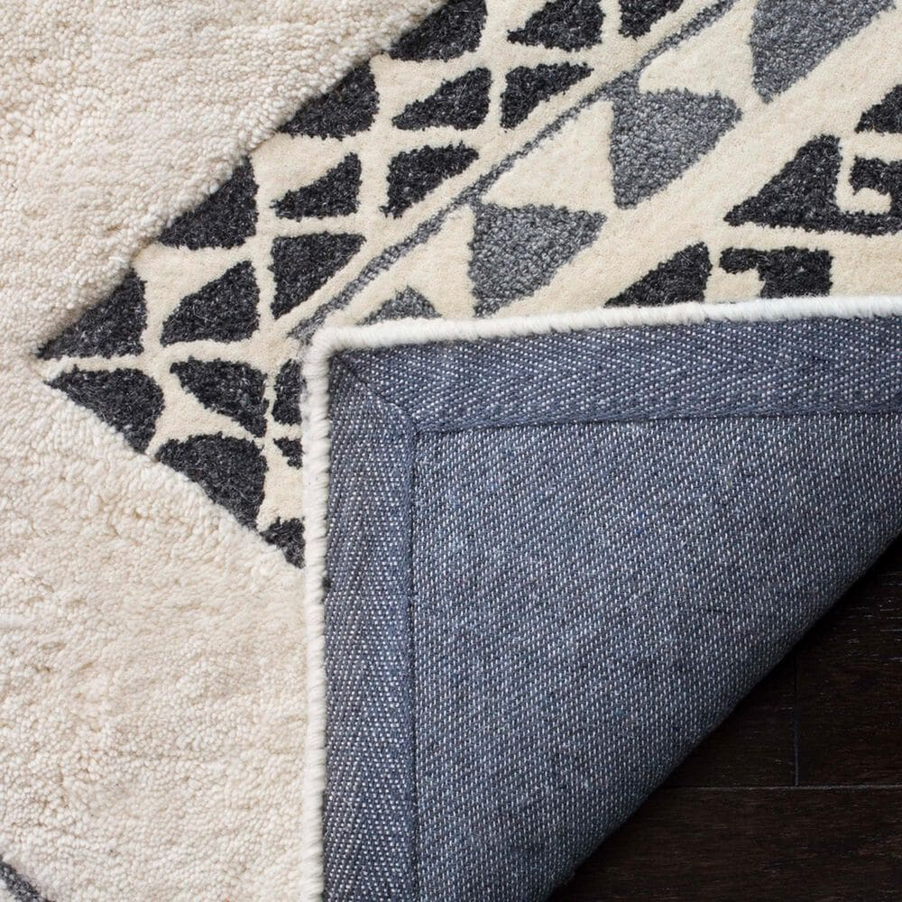 """Safavieh Casablanca CSB301A 2'3"""" x 8' Ivory and Grey Runner, , large"""