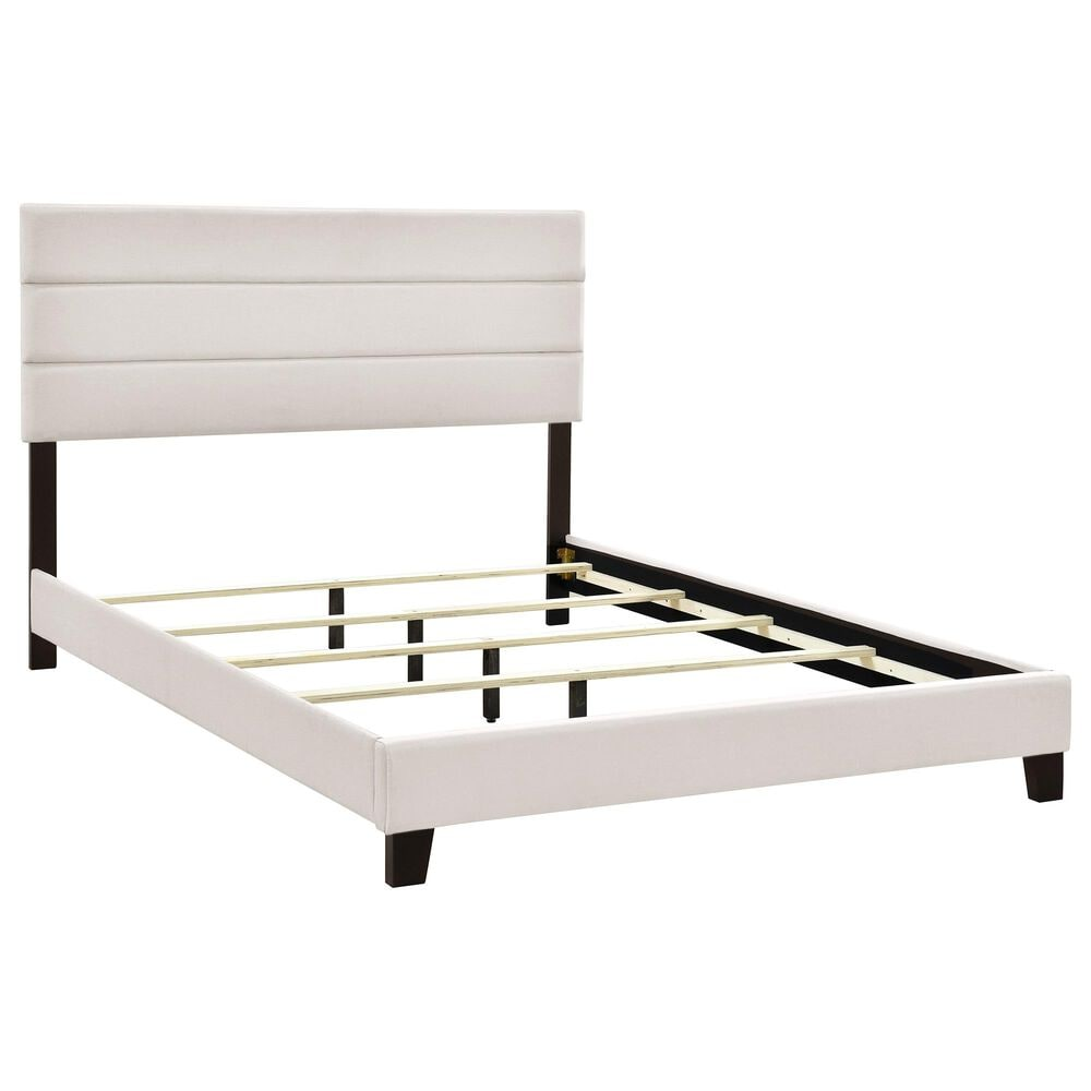 Accentric Approach King Slat Bed in Cream, , large