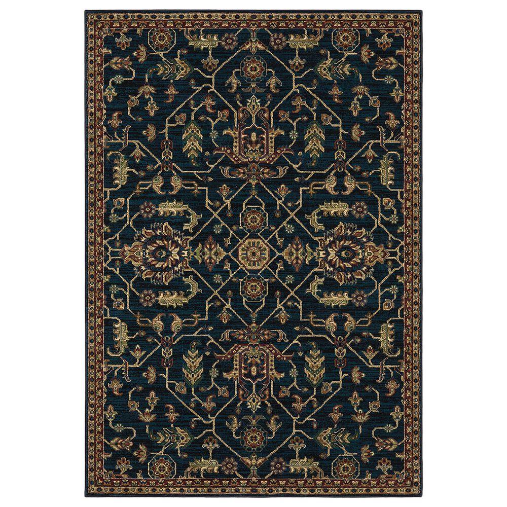 "Oriental Weavers Ankara Oriental 531B5 5""3"" x 7""6"" Blue and Red Area Rug, , large"
