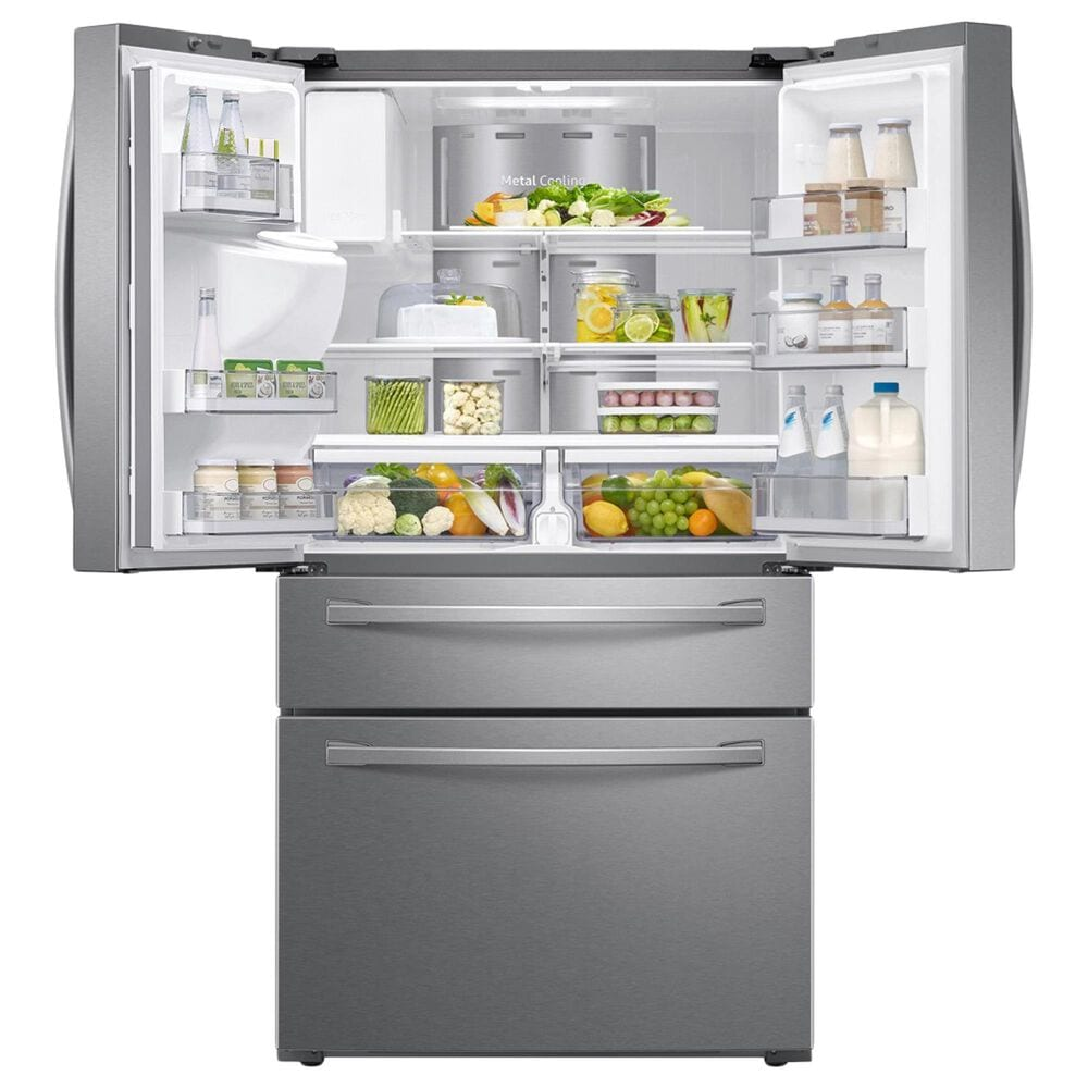 Samsung 2-Piece Kitchen Package with 28 Cu. Ft. French Door Refrigerator and Top Control Dishwasher in Stainless Steel, , large