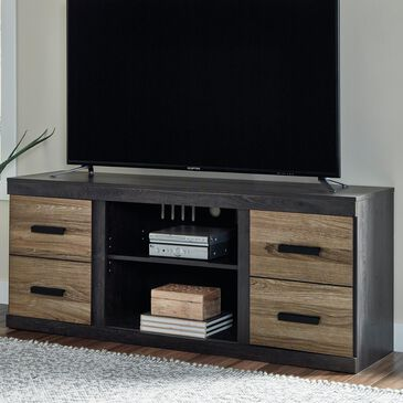 """Signature Design by Ashley Harlinton 63"""" TV Stand in Warm Gray, , large"""