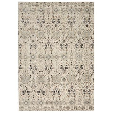 Nourison Silver Screen KI341 4' x 6' Grey and Slate Area Rug, , large