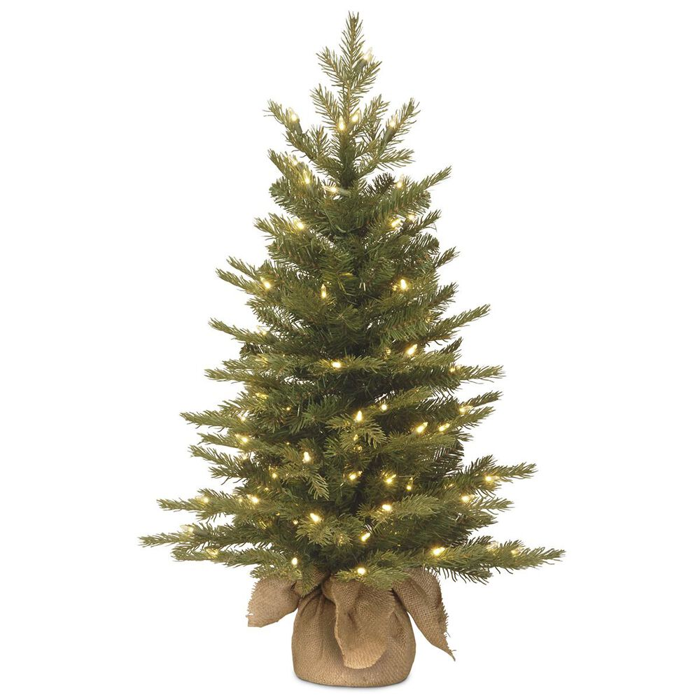 """National Tree 3"""" Nordic Spruce Tree with White Lights, , large"""