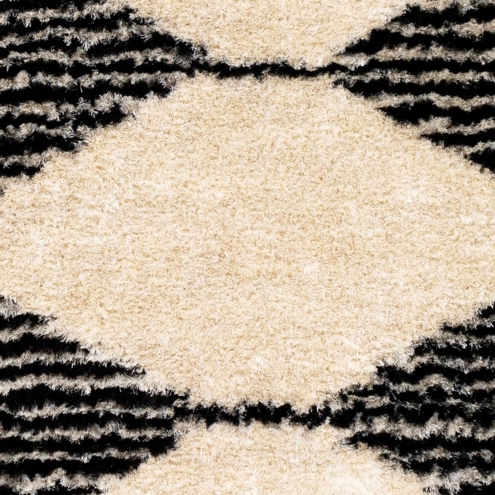 "Surya Gibraltar GIB-2301 8'10"" x 12' Black and Cream Area Rug, , large"