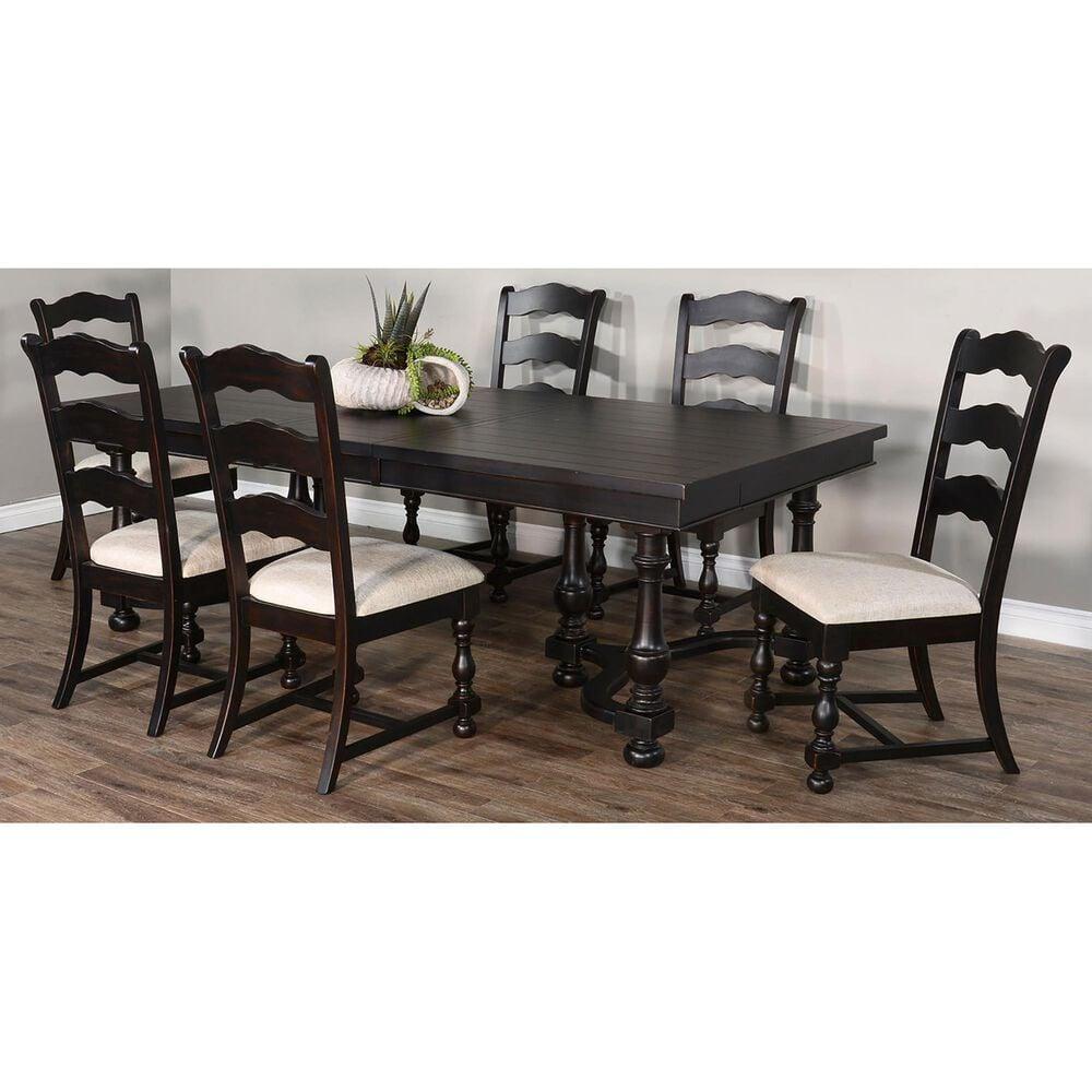 Sunny Designs Scottsdale 7-Piece Dining Set in Black Walnut, , large