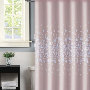 "Pem America Christian Siriano Confetti Flowers 72"" Shower Curtain in Blush, , large"