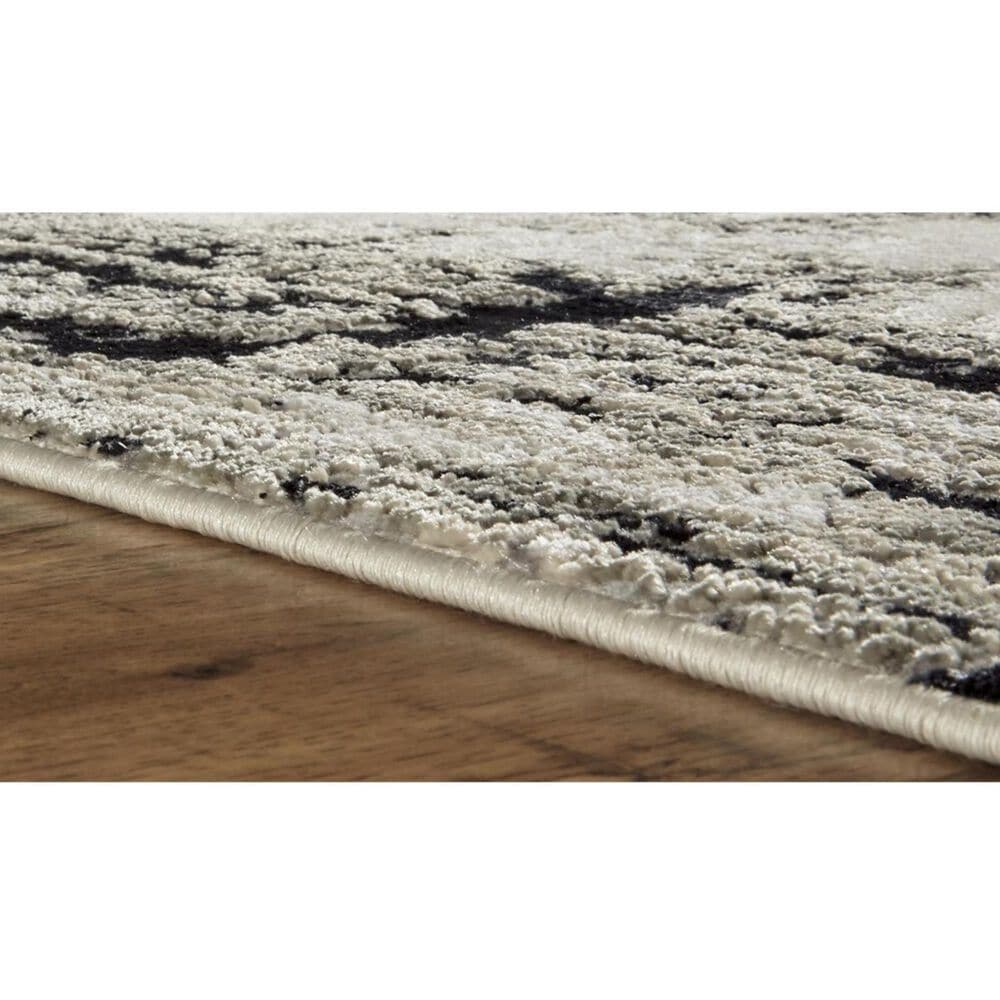 Feizy Rugs Micah 3339F 5' x 8' Black Area Rug, , large