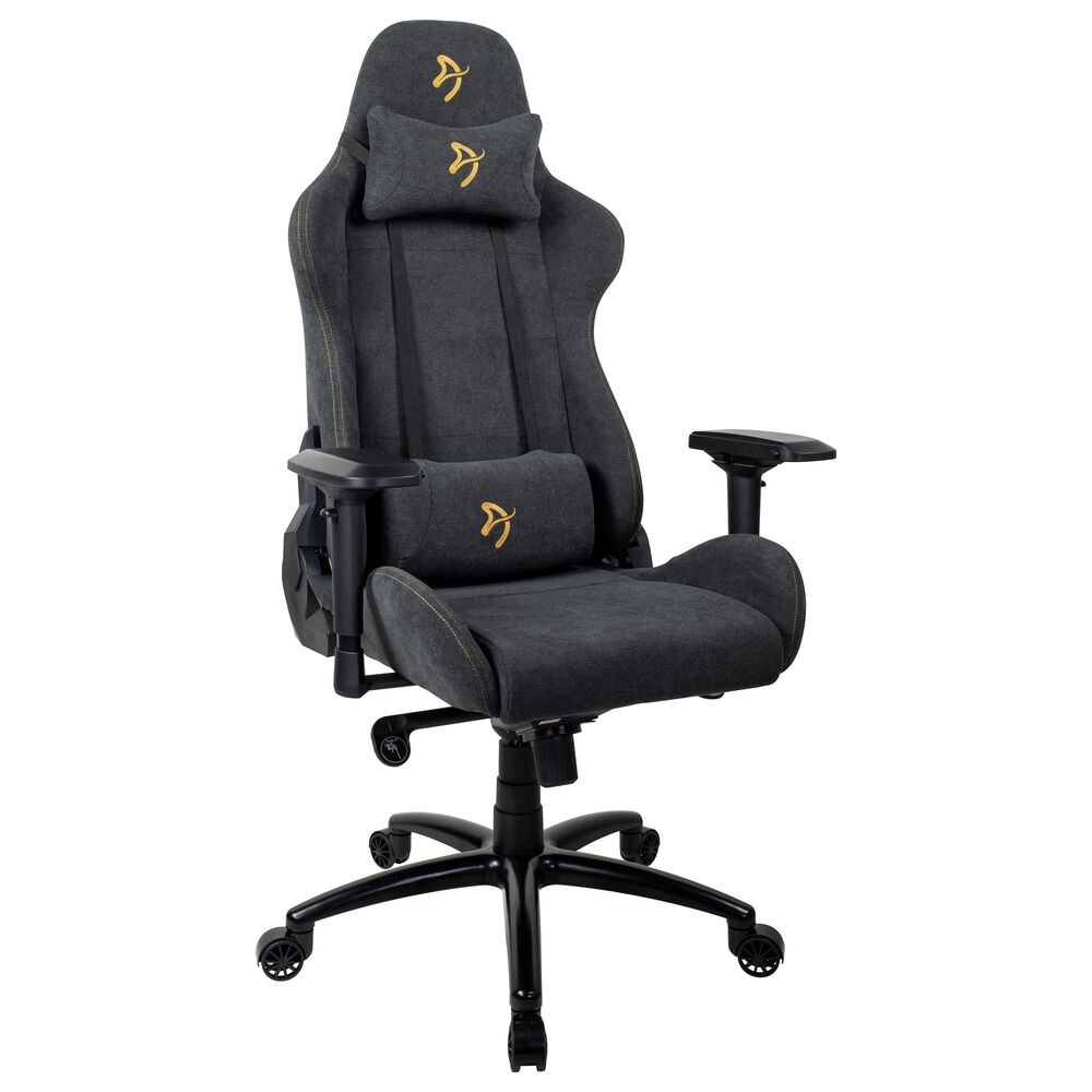 Arozzi Verona Signature Soft Fabric Gaming Chair in Gold, , large