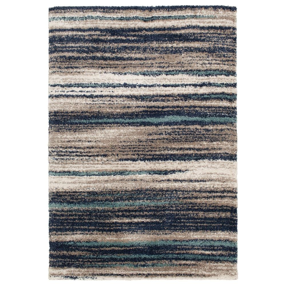 Central Oriental Tulsa Dunkerton 9862NAM 8' x 10' Navy Area Rug, , large