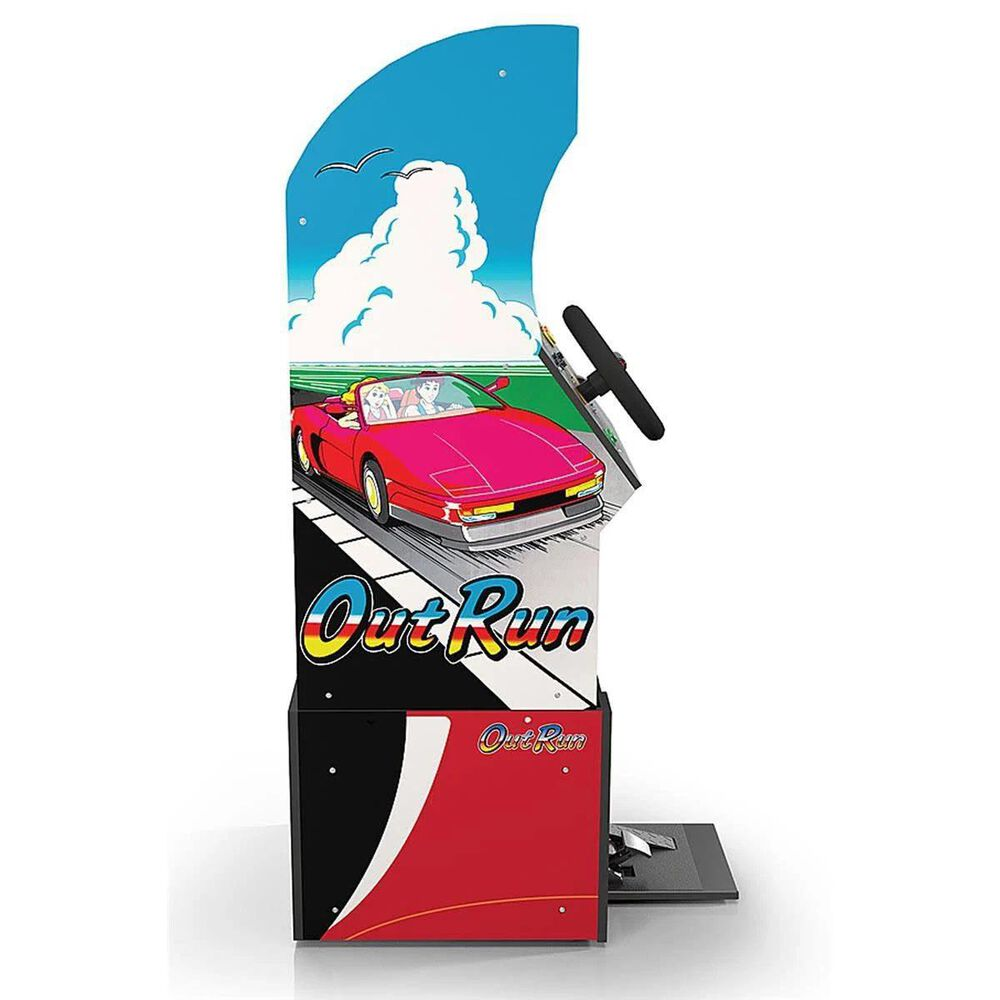 Arcade1up 4' Outrun Standing Arcade Game with Light-up Marquee and Riser, , large