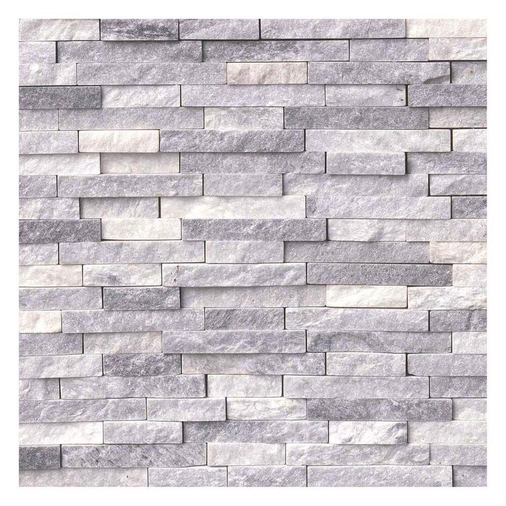 MS International Alaska Gray Splitface Natural Stone Mosaic Sheet, , large
