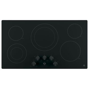 "GE Appliances 36"" Electric Cooktop in Black, , large"