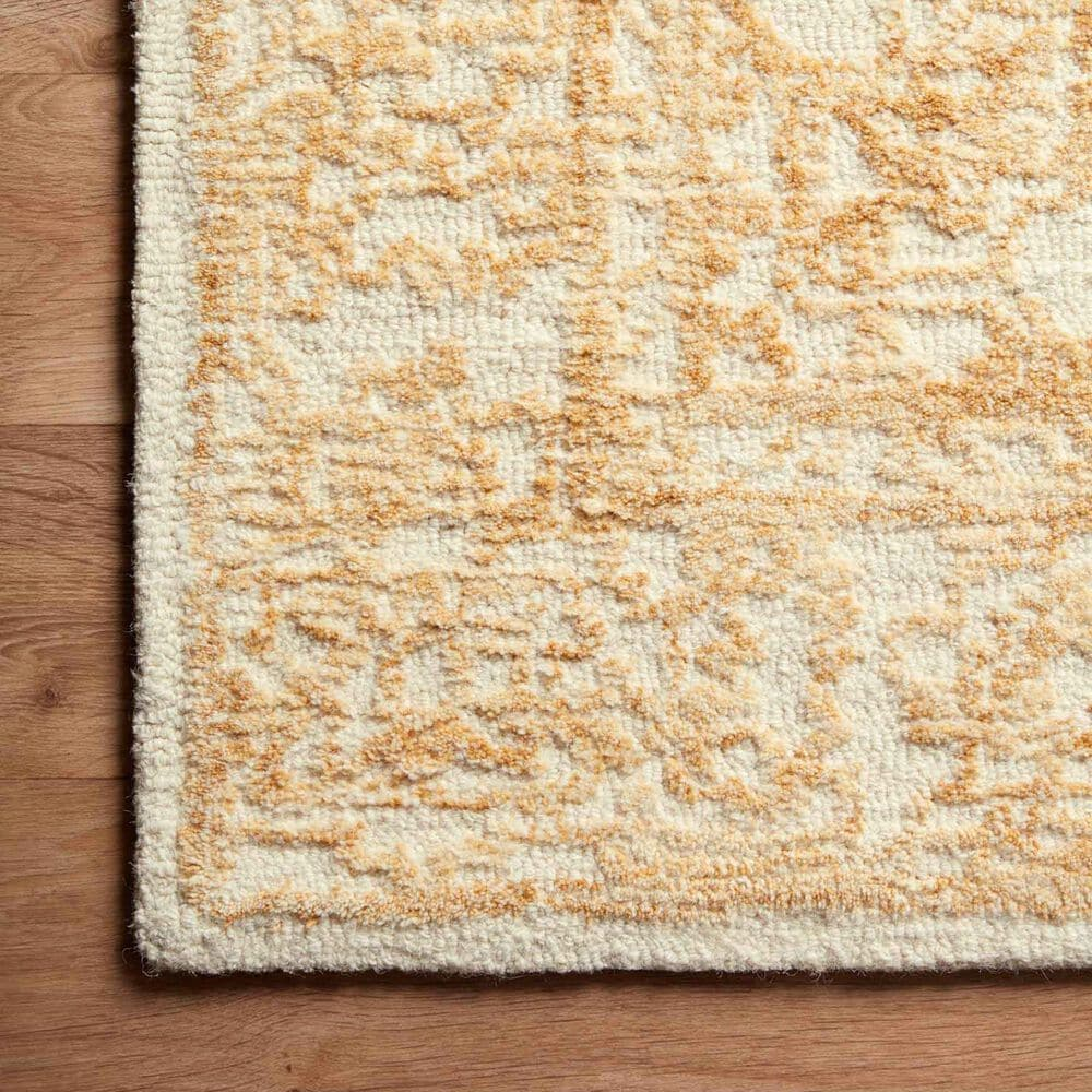 """Magnolia Home Annie ANN-03 5' x 7'6"""" White and Gold Area Rug, , large"""