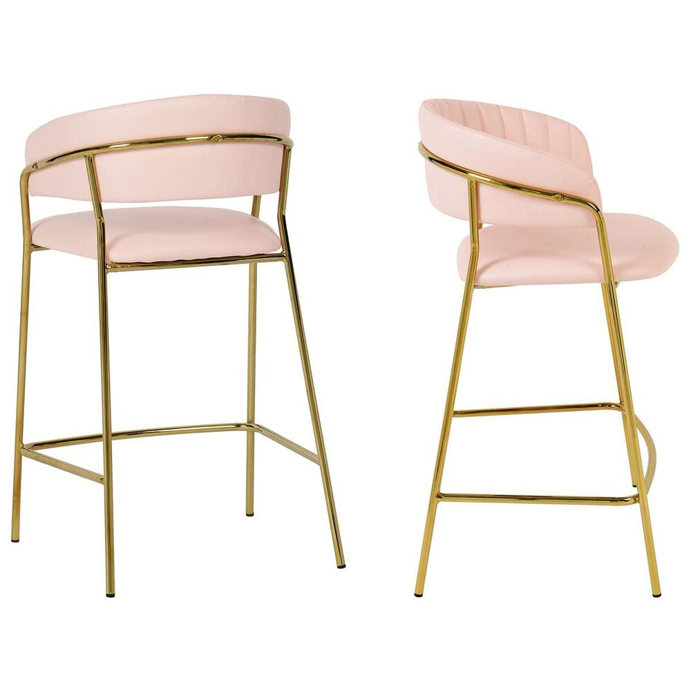 Tov Furniture Padma Counter Stool in Blush (Set of 2), , large