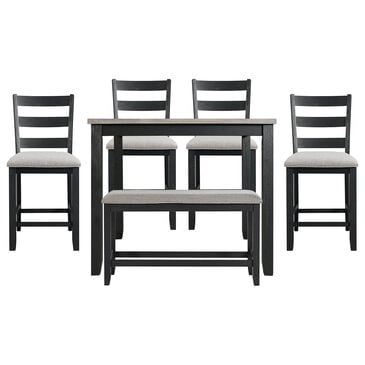 Mayberry Hill Martin 6-Piece Counter Dining Set in Gray, , large