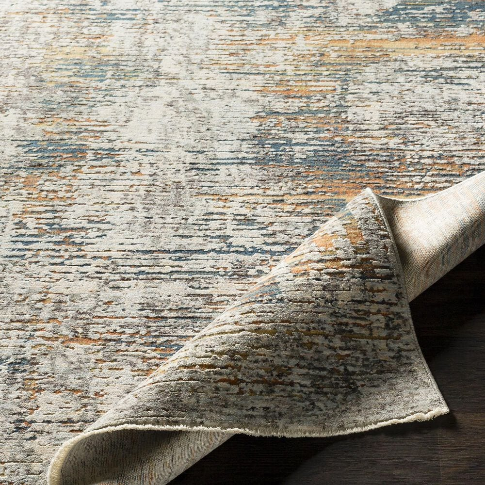 Surya Presidential PDT-2305 5' x 8' Blue, Gray and Orange Area Rug, , large