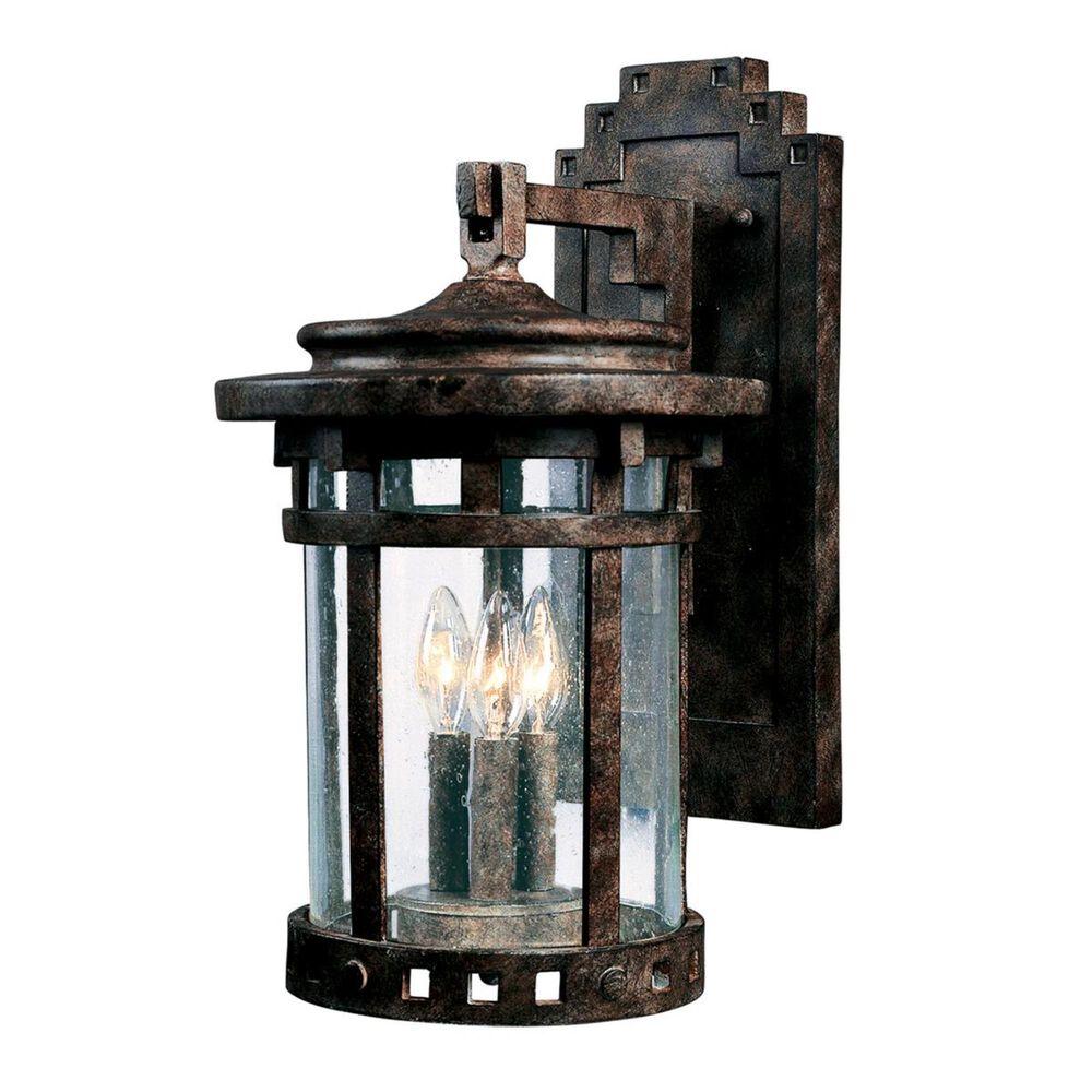 "Maxim Lighting Santa Barbara DC 11"" x 20"" 3 Light Outdoor Wall Lantern in Sienna, , large"