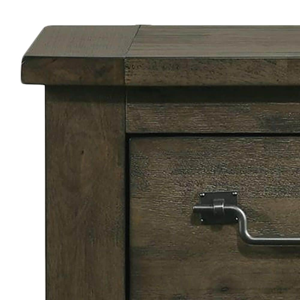 Mayberry Hill Maverick 2 Drawer Nightstand in Rustic Brown, , large