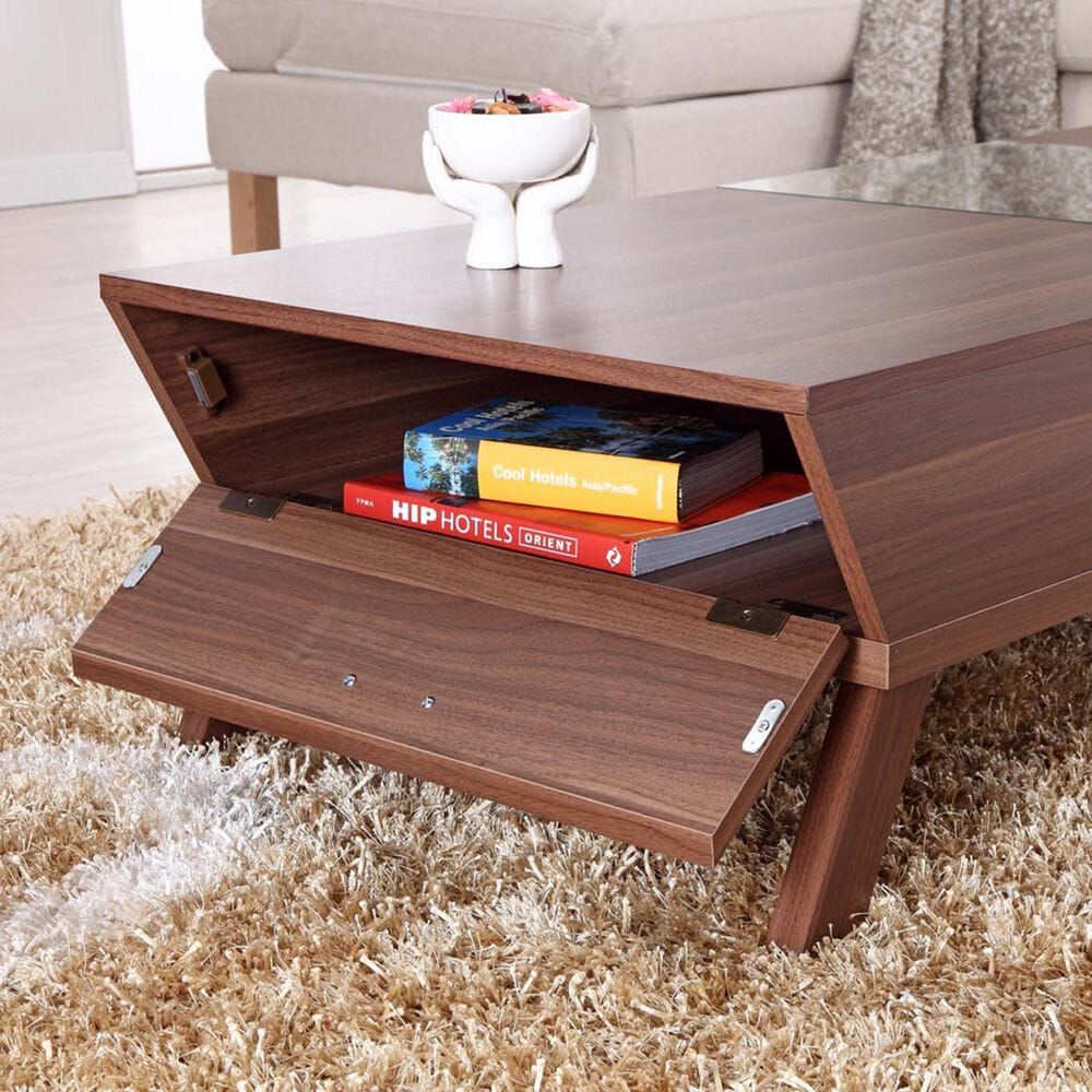 Furniture of America Parrish Coffee Table in Walnut, , large