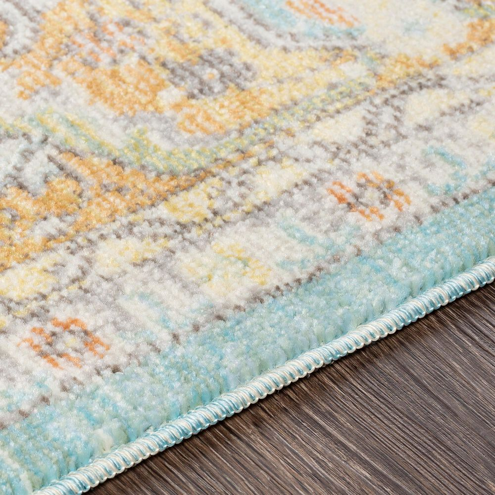 "Surya Bodrum 7'10"" x 10' Saffron, Gray and Blue Area Rug, , large"