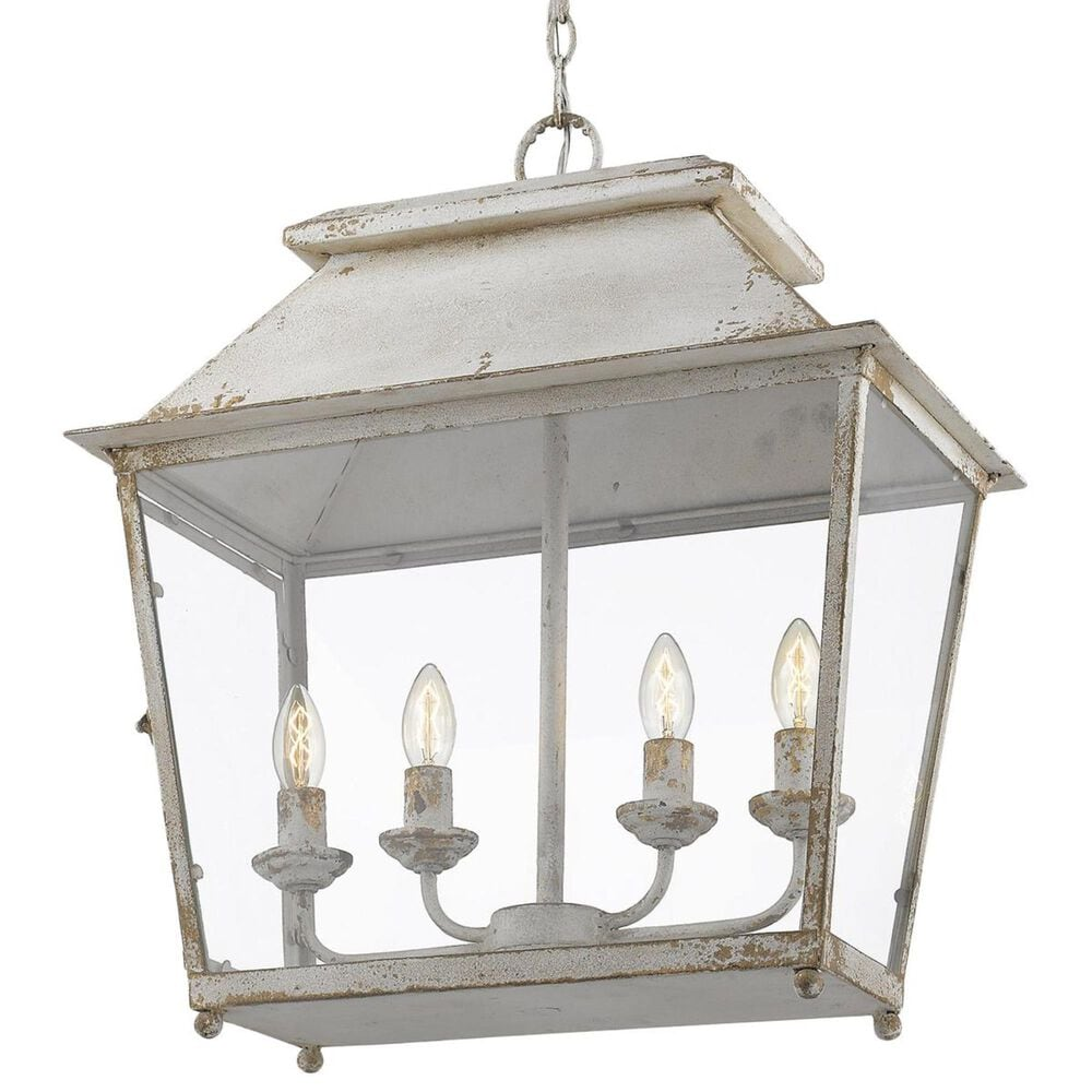 Golden Lighting Abingdon 4-Light Pendant Lantern in Antique Ivory, , large