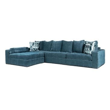 Moda Noah 4-Piece Sectional in Napa Teal Blue, , large