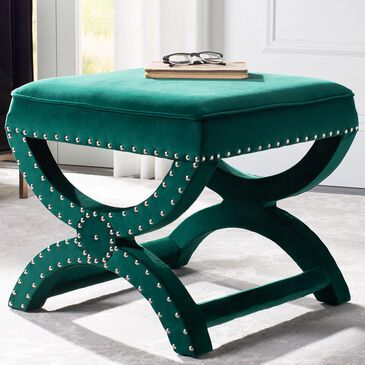 Safavieh Mystic Ottoman in Emerald, , large