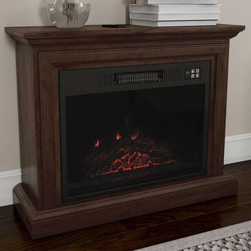 Timberlake Northwest Electric Mobile Mantel Fireplace in Brown, , large