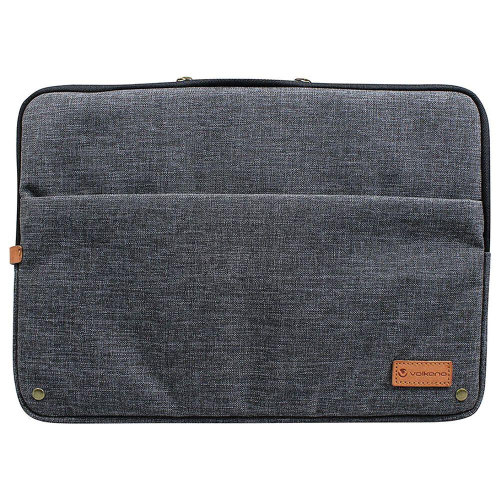 """Volkano 15.6"""" Premier Series Laptop Sleeve in Dark Grey, , large"""