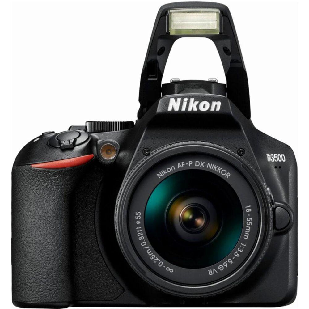 Nikon D3500 DSLR Camera with 18-55mm f/3.5-5.6G VR and 70-300mm f/4.5-6.3 ED Lens, , large