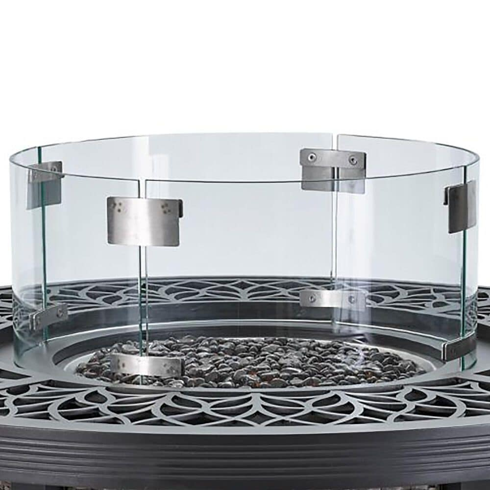 """Venture Round Glass Windscreen for 42"""" Fire Pit, , large"""