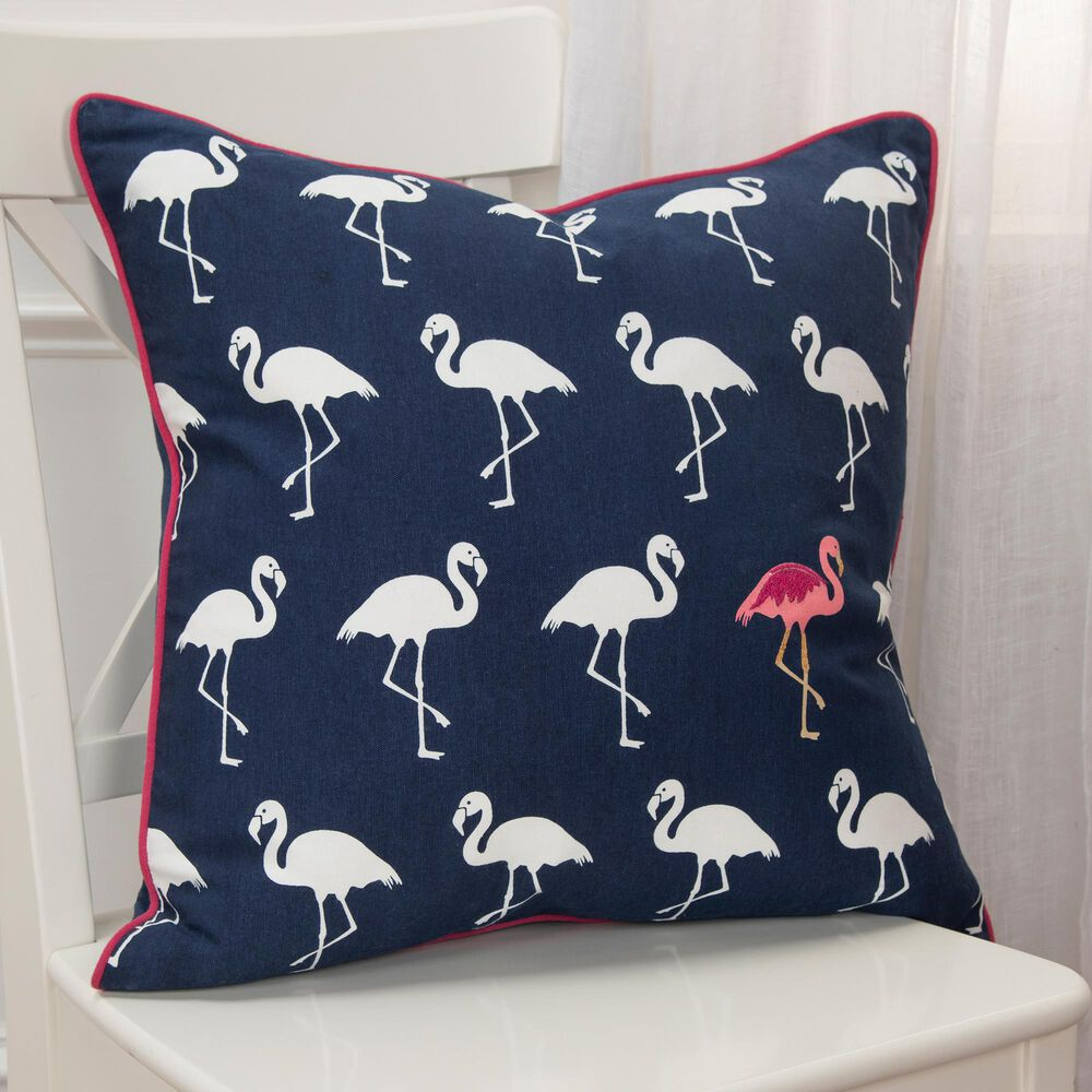 """Rizzy Home Animal 20"""" Down Filled Pillow in Navy, , large"""