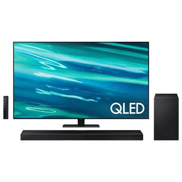 "Samsung 55"" Q80A Class 4K QLED UHD - Smart TV with 3.1.2 Channel Soundbar System, , large"