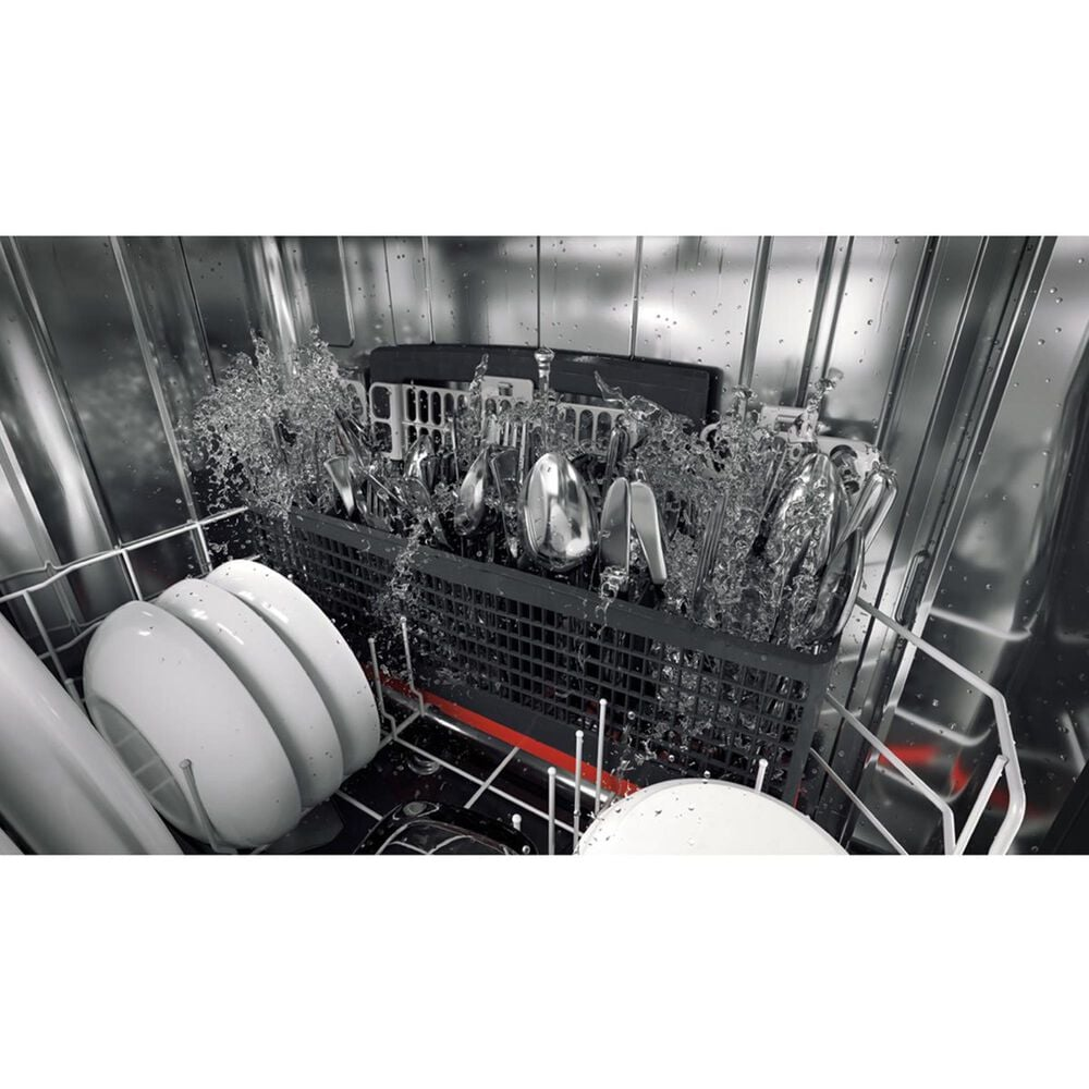 GE Profile Stainless Interior Dishwasher with Hidden Controls in Stainless Steel, , large