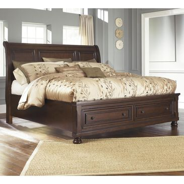 Millennium Porter Queen Sleigh Bed with Storage in Burnished Brown, , large