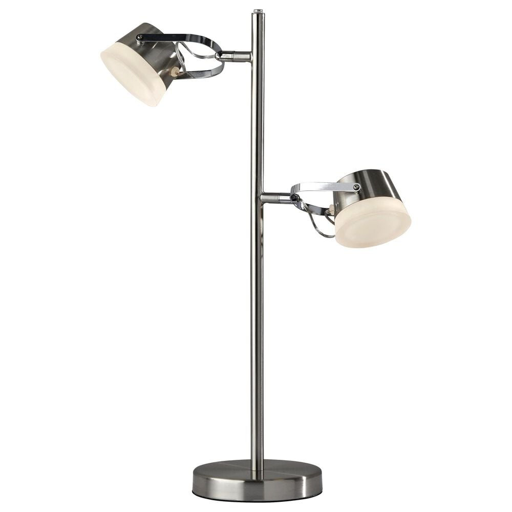 Adesso Nitro LED Table Lamp in Brushed Steel, , large