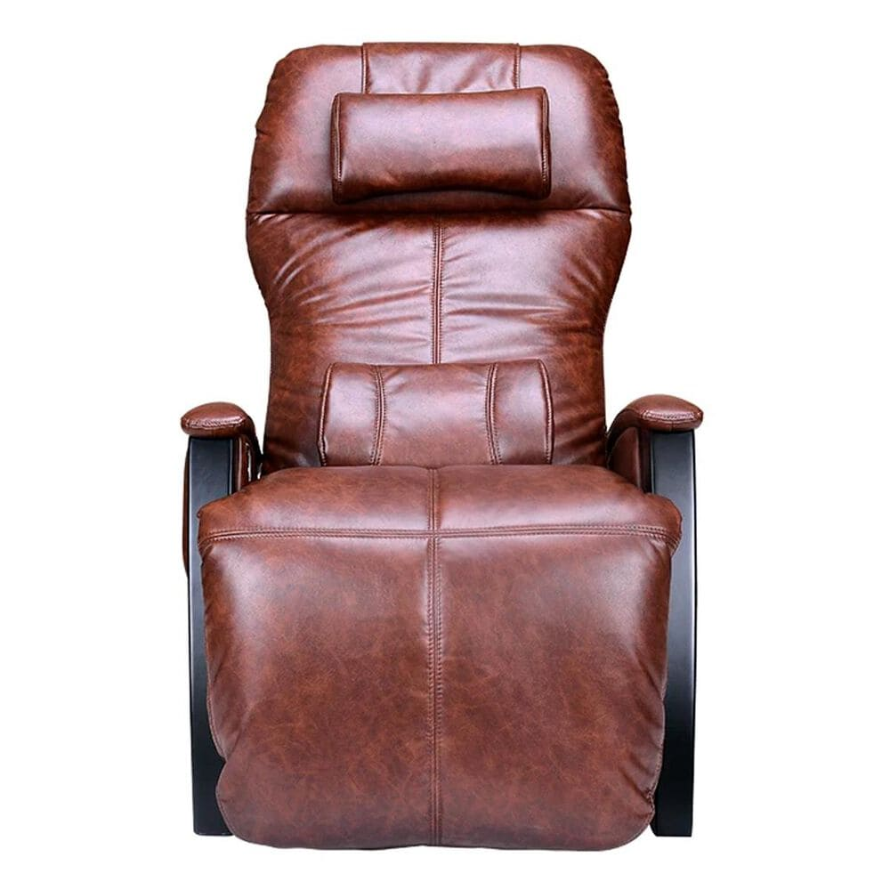 Svago Zero Gravity Massage Chair in Cognac Faux Leather, , large