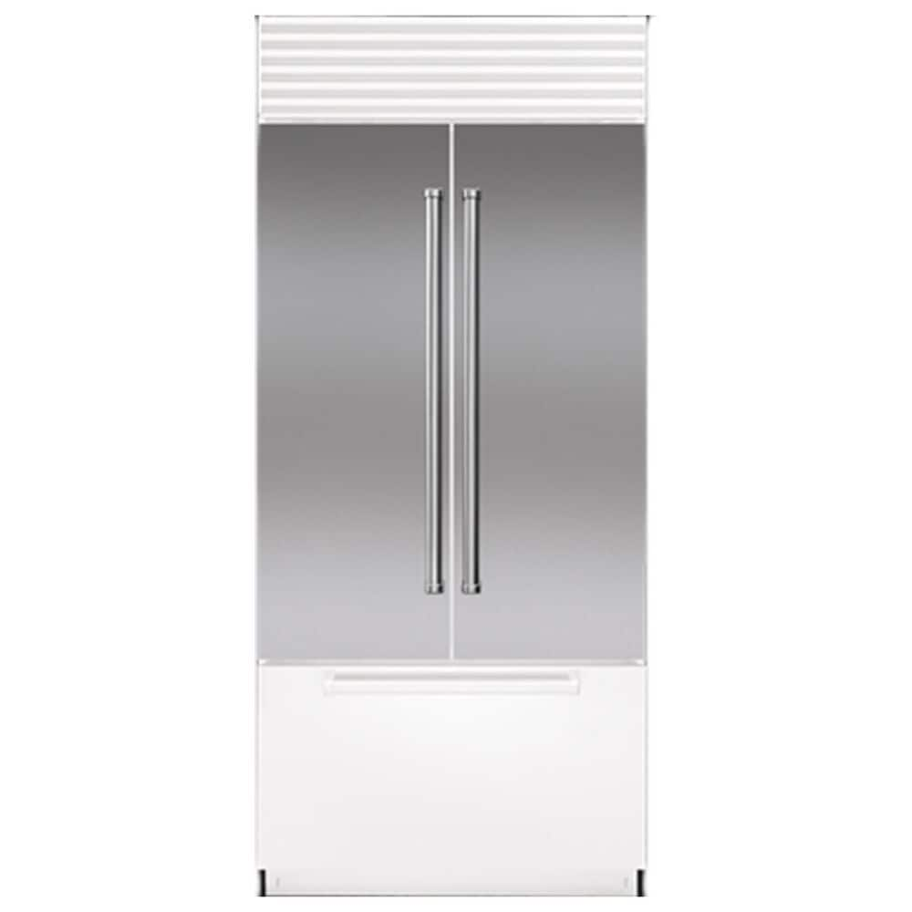 """Roth Distributing 36"""" French Door Flush Inset Door Panel with Professional Handle in Stainless Steel, , large"""