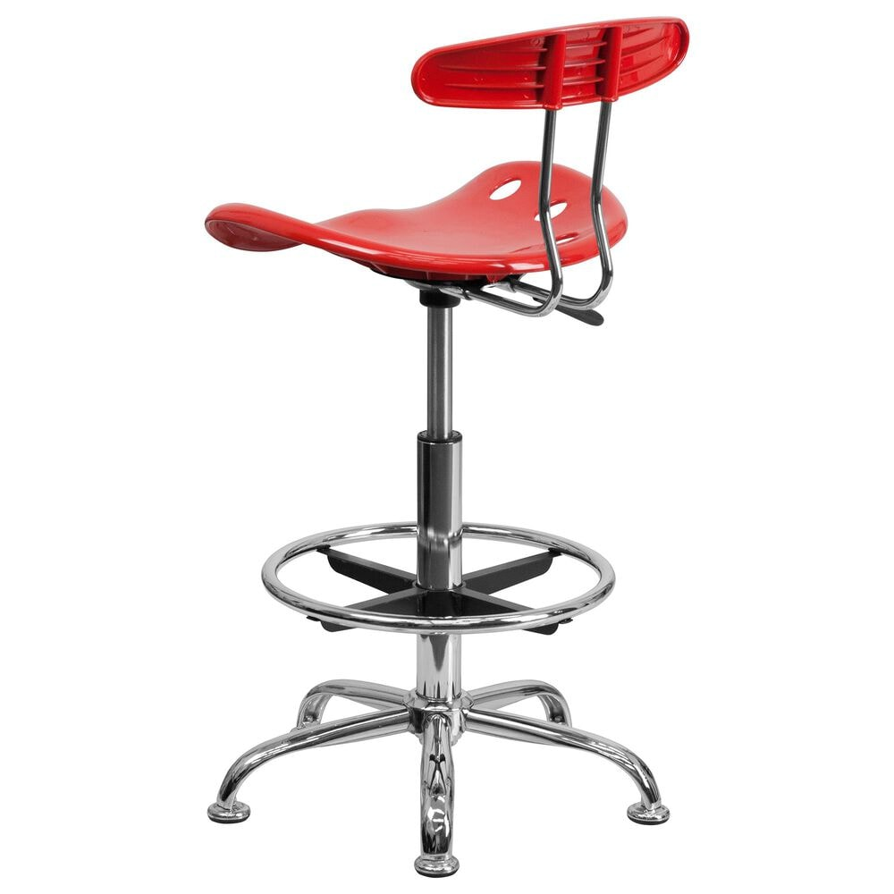 Flash Furniture Vibrant Drafting Stool in Red, , large