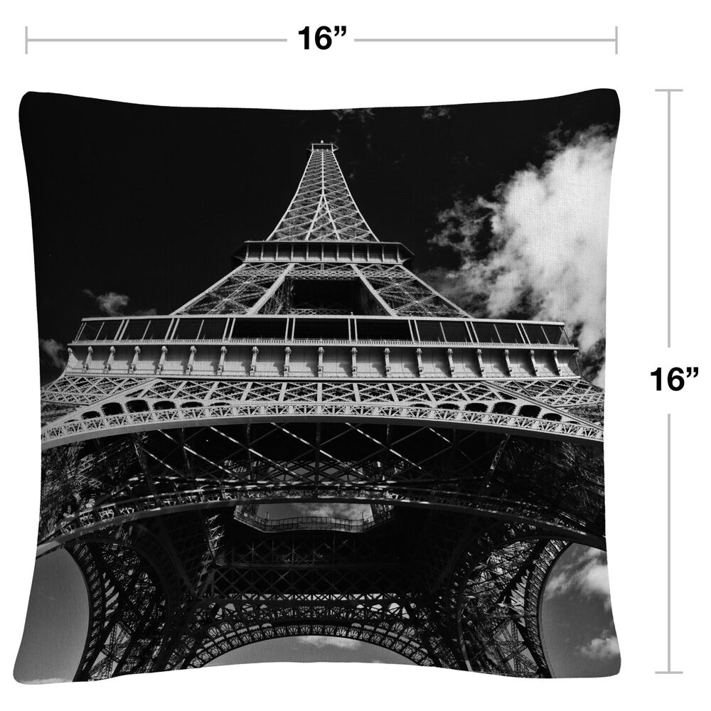Timberlake Yale Gurney 'Paris Eiffel Tower 1' 16 x 16 Decorative Throw Pillow, , large