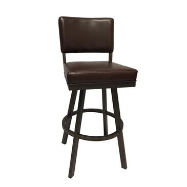 """Delaware Dining Malibu 26"""" Swivel Counter Height Barstool in Brown, , large"""