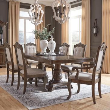 Signature Design by Ashley Charmond 7-Piece Dining Set in Dark Brown, , large