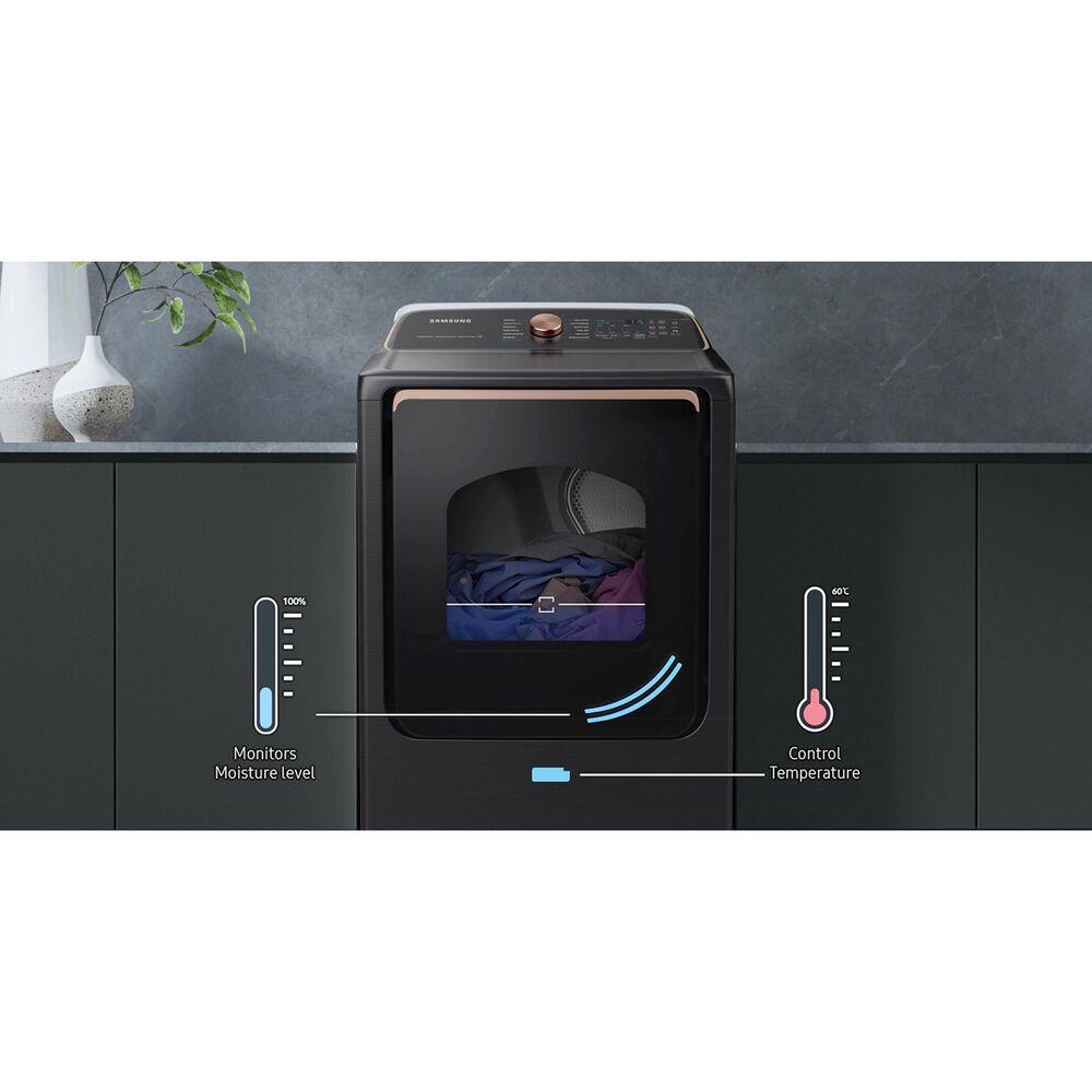 Samsung 5.5 Cu. Ft. Smart Top Load Impeller Washer and 7.4 Cu. Ft. Gas Dryer in Brushed Black, , large